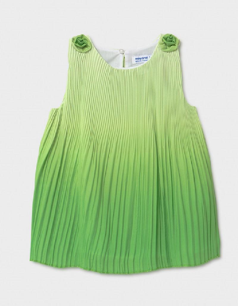 Pistachio Pleated Ombré Dress