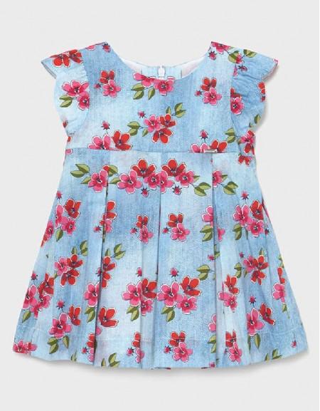 Poppy Popeline Denim Effect Dress