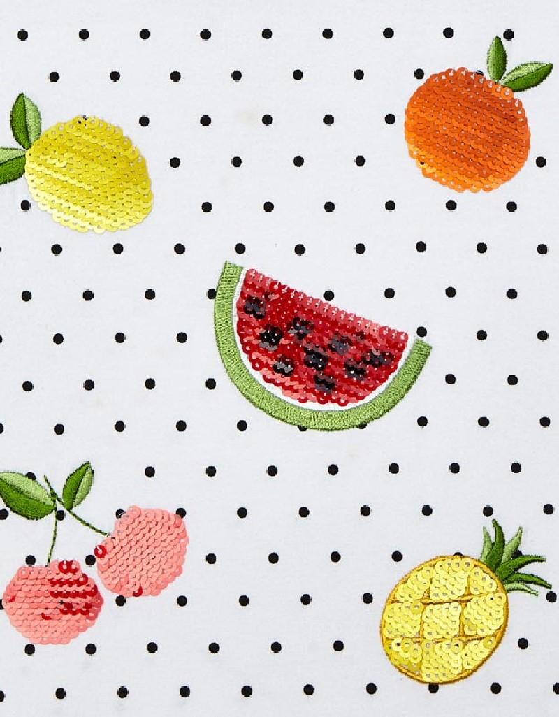 Black Ecofriends Fruit And Polka Dot T-Shirt