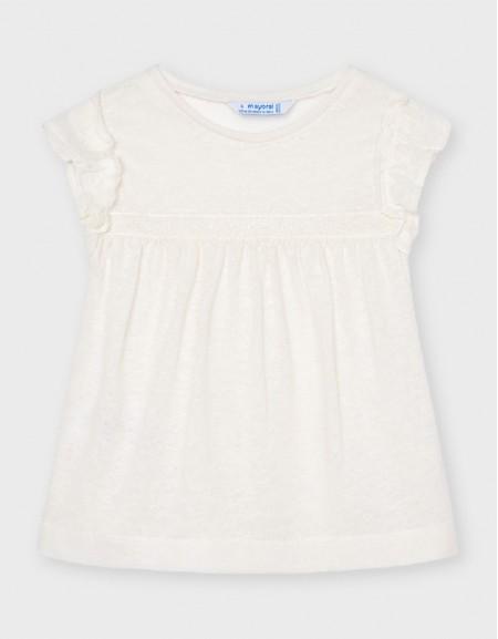 Natural Short Sleeved Linen T-Shirt