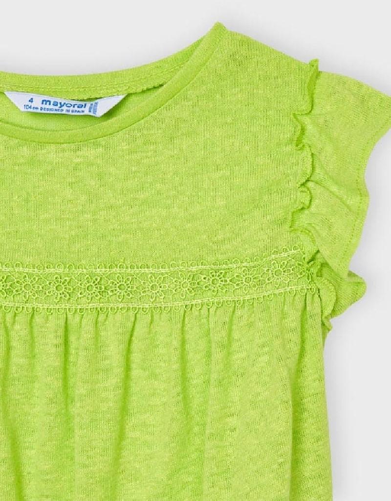 Pistachio Short Sleeved Linen T-Shirt