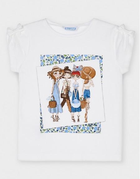 White Short Sleeved Liberty T-Shirt