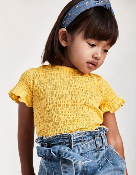 Mustard Ruched T-Shirt