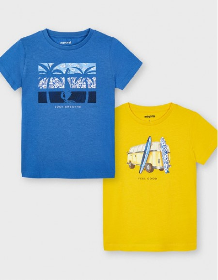 Yellow S/S 2 Pcs T-Shirt Set