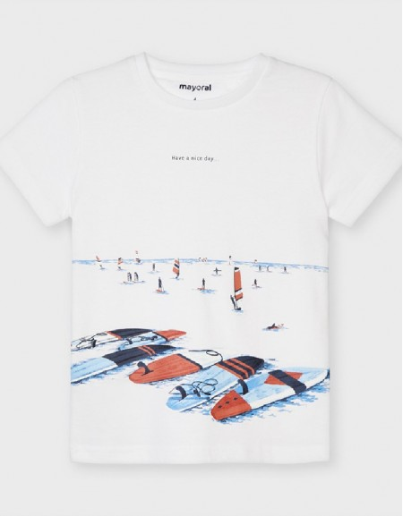 White S/S T-Shirt Have A Nic Day