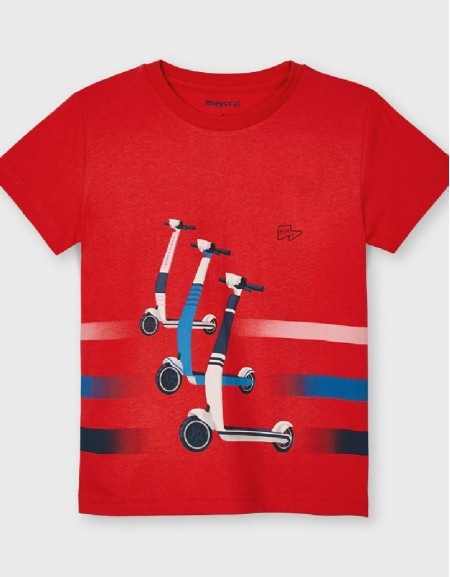 Cyber Red S/S Skater T-Shirt