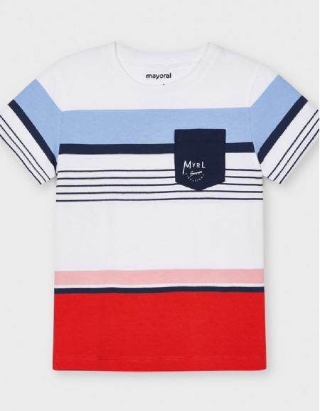 Cyber Red Striped T-Shirt