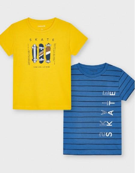 Yellow S/S 2 Pcs T Shirt Set