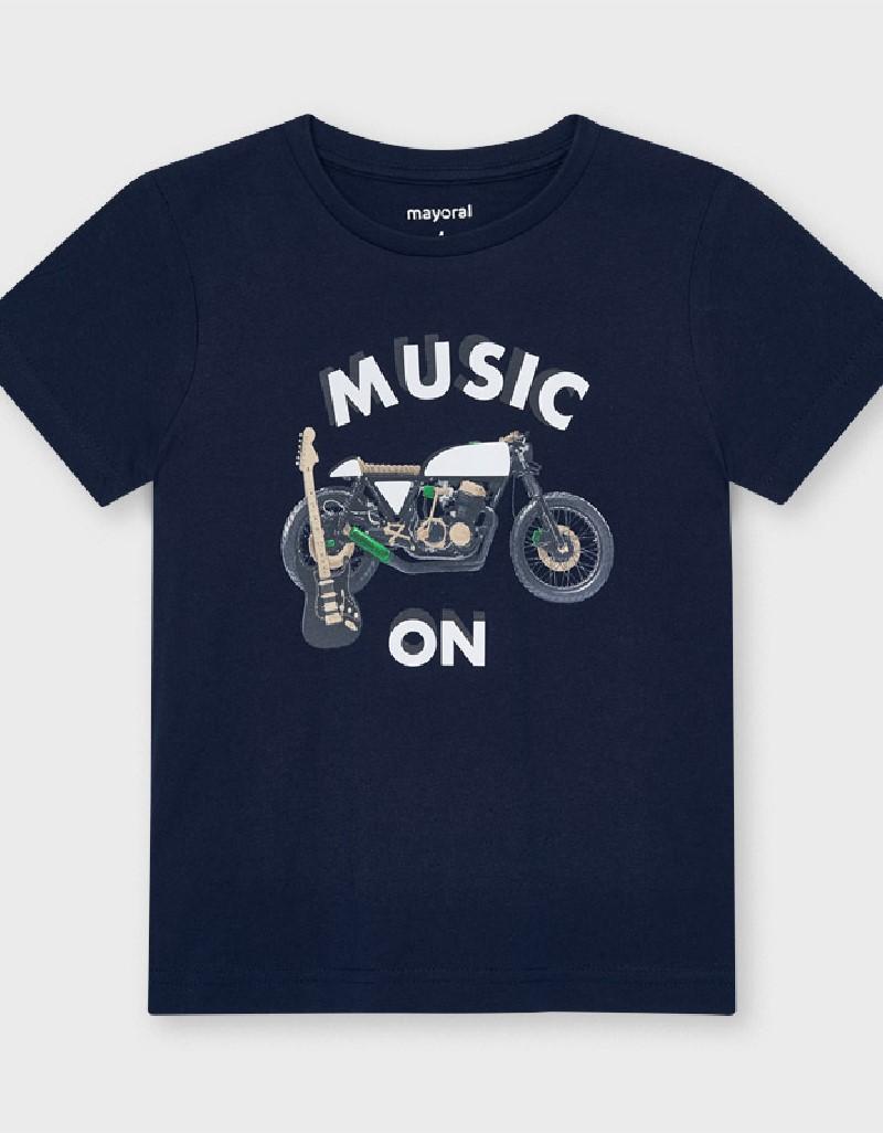 Navy S/S Reflective Bike T-Shirt