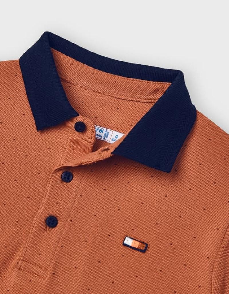 Clay Short Sleeved Print Polo
