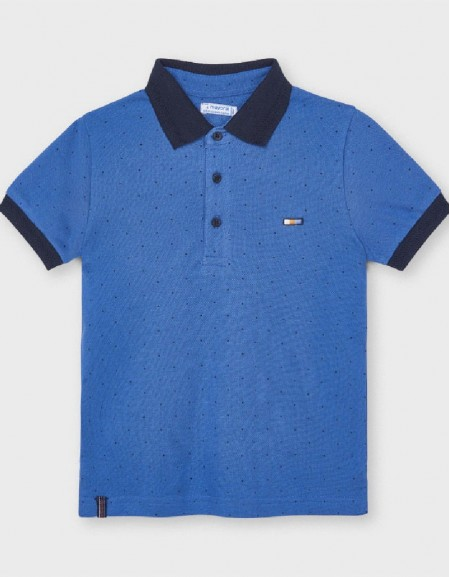 Waves Short Sleeved Print Polo