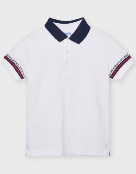 White S/S Semi Basic Polo