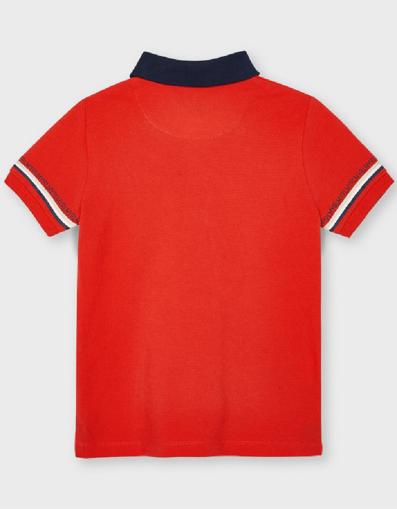 Cyber Red S/S Semi Basic Polo