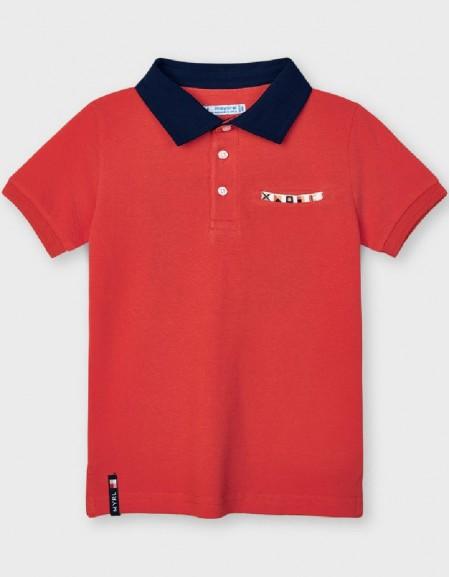 Papaya Short Sleeved Appliqué Polo