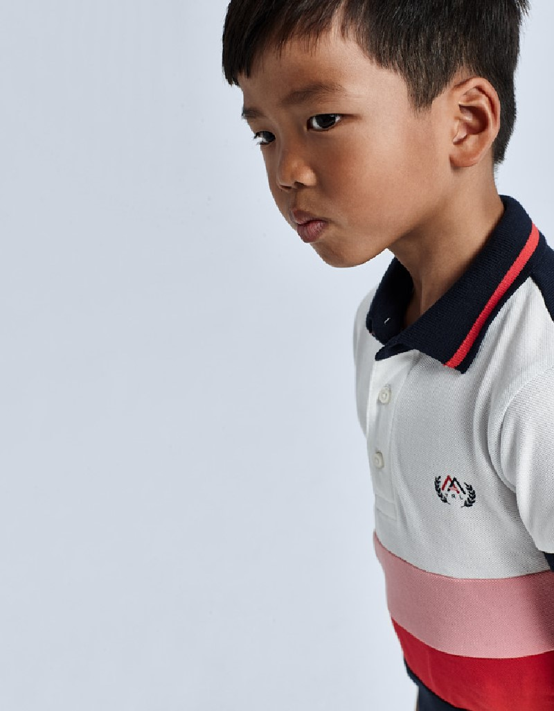 Cyber Red Combined Polo