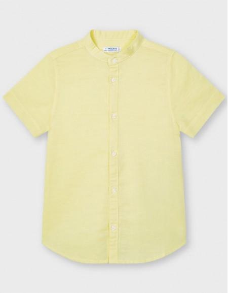 Banana Short Sleeved Two Tone Polo Shirt