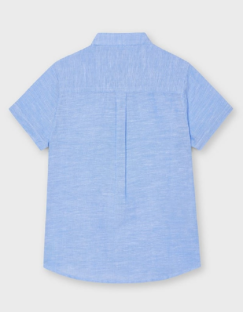 Lightblue Short Sleeved Two Tone Polo Shirt