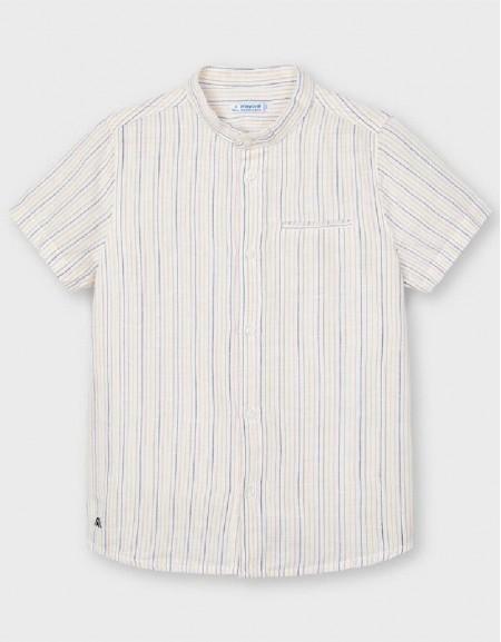 Lemon Short Sleeve Stripped Shirt