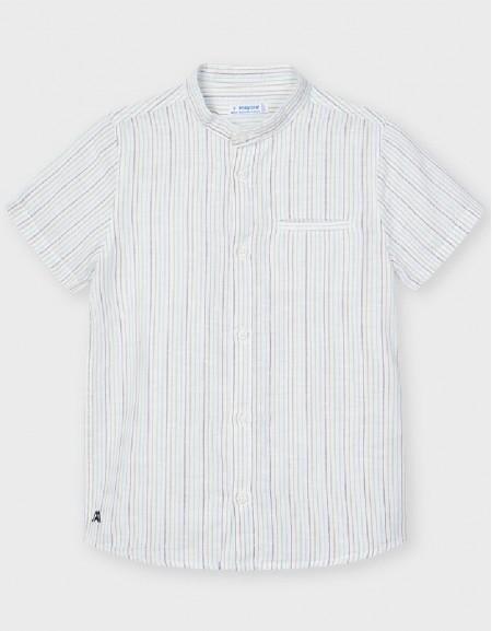 Lightblue Short Sleeve Stripped Shirt