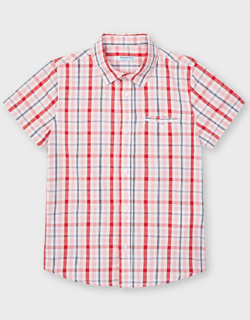 Cyber Red Checked Shirt