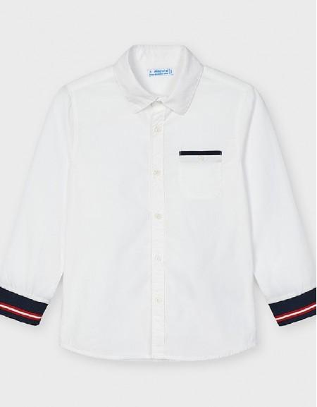 White Cuff Design Shirt