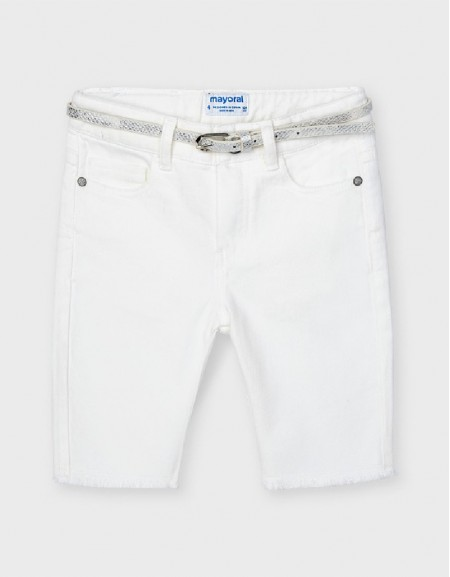 White Cyclist Pant