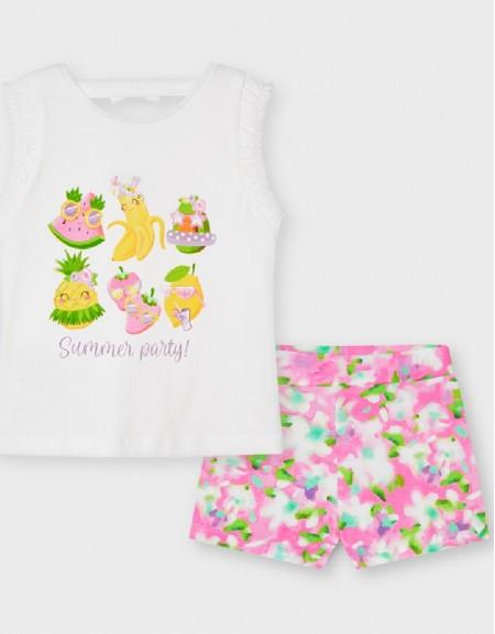 Camellia Printed Shorts Set