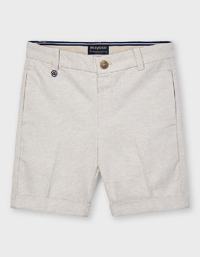 Jacq Latte Tailored Linen Shorts