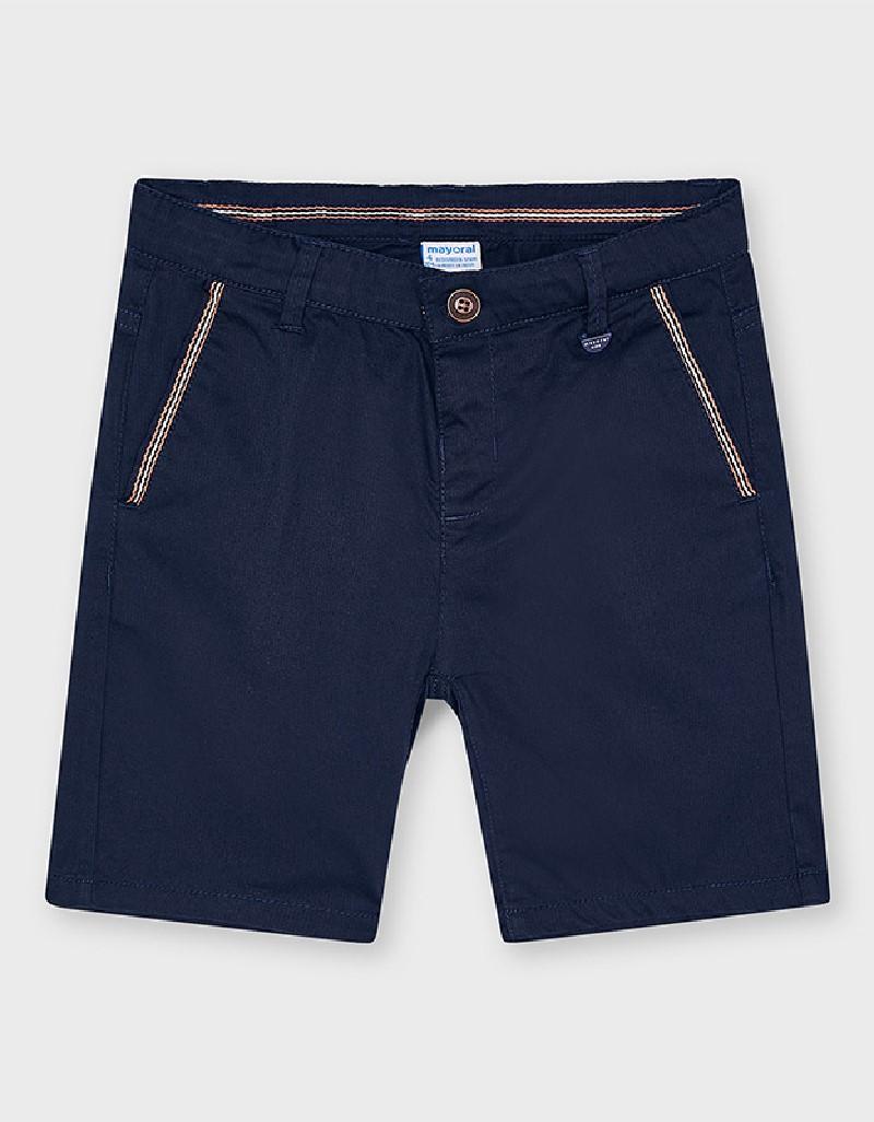 Navy Herringbone Shorts