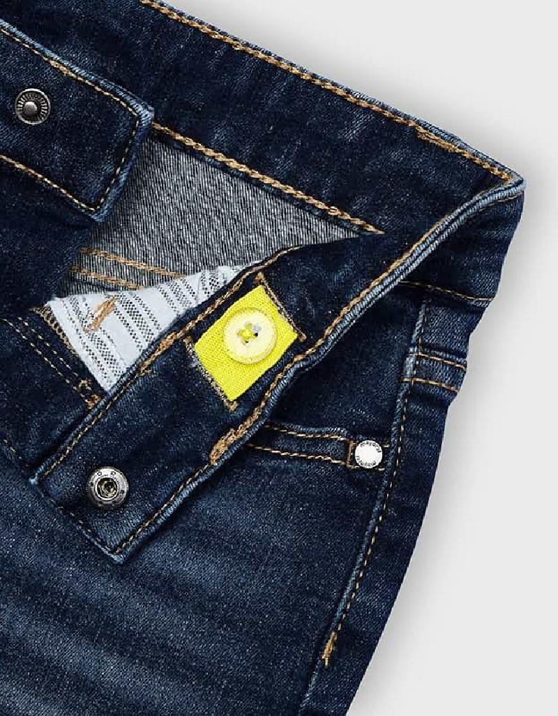Dark Denim 5 Pocket Bermuda Shorts