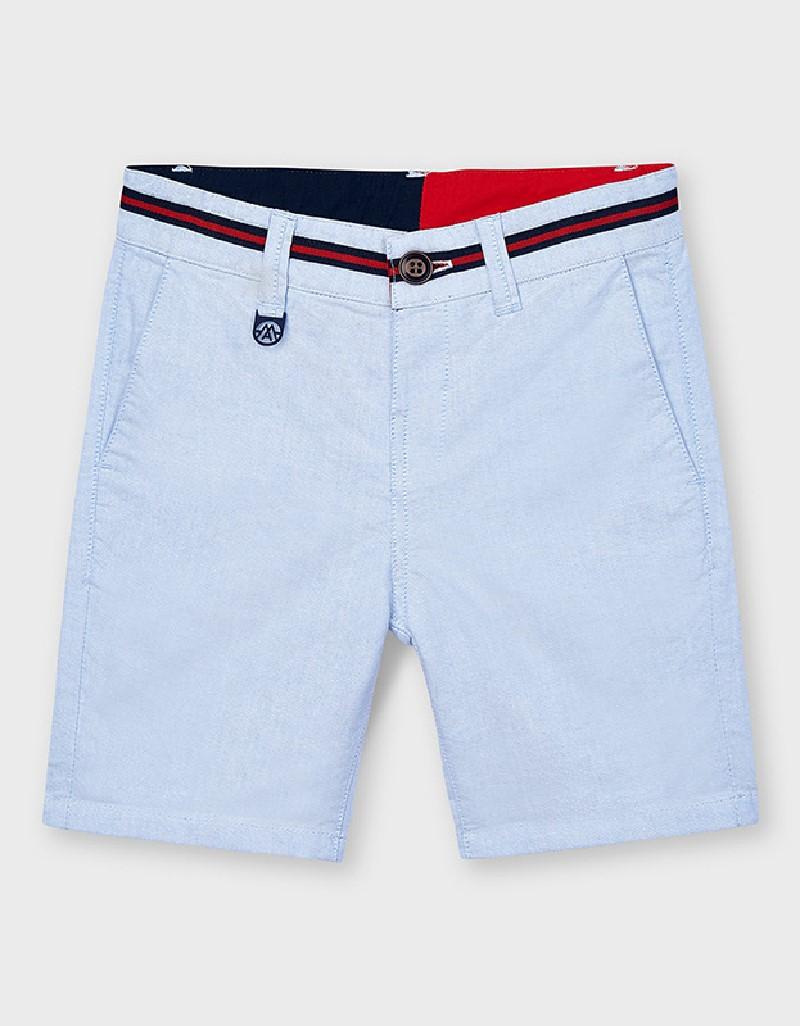 Lightblue Oxford Shorts