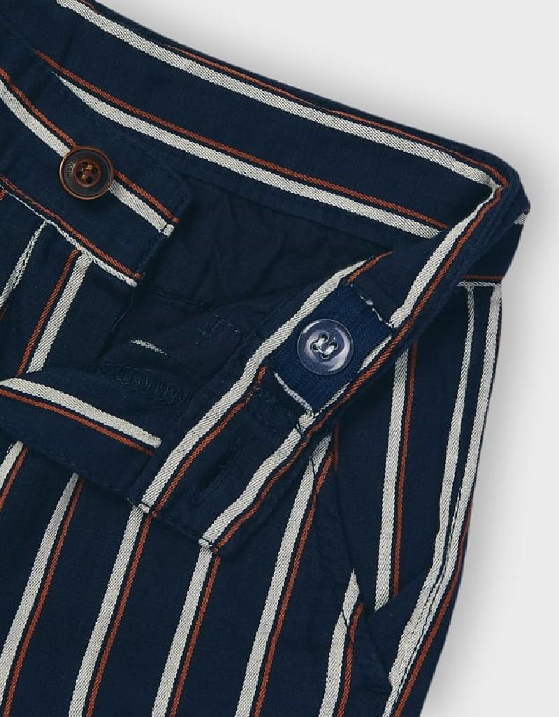 Navy Linen Shirt And Short Set