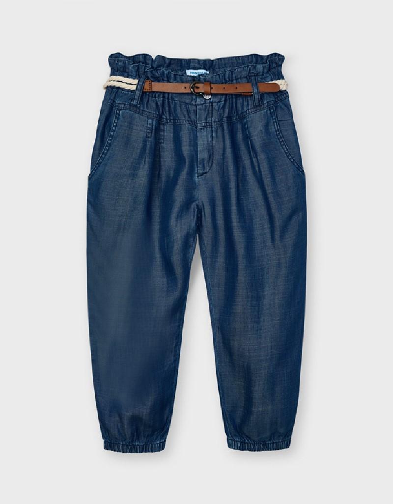 Indigo Long Pant With Belt