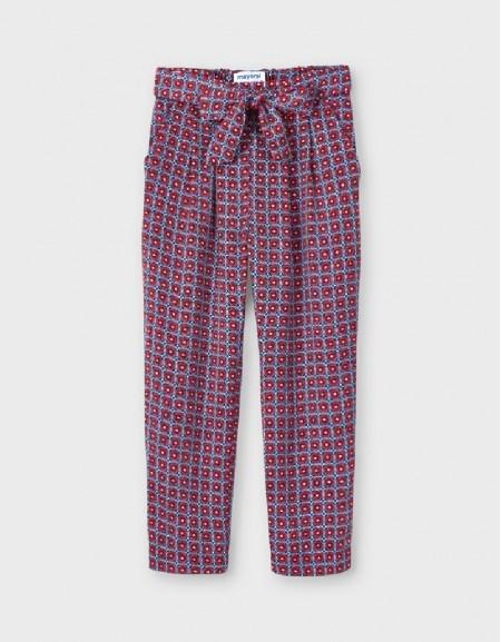 Poppy Flowy Print Trousers