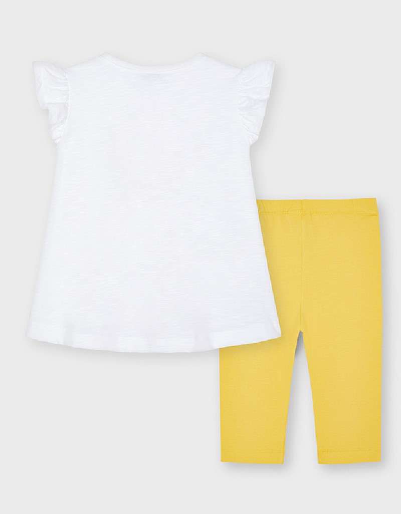 Mustard Pant Set With Sequin Pirate