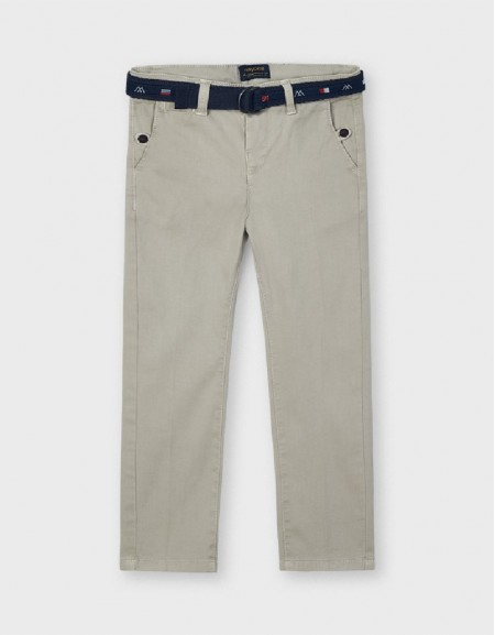 Whiteboard Piqué Trousers With Belt