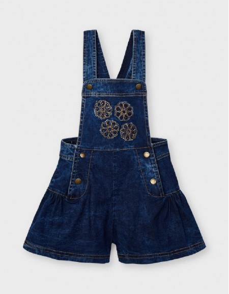 Denim Overall With Apliques