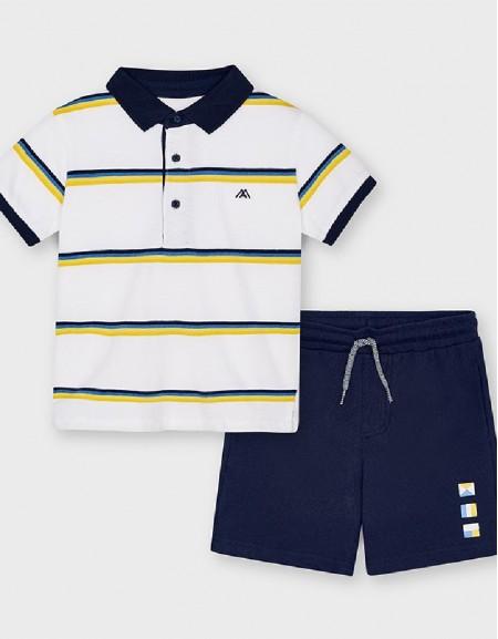 Navy Polo Short Set 2