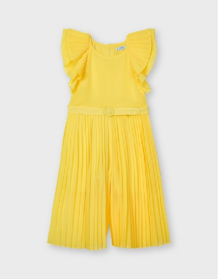 Yellow Chiffon Jumpsuit