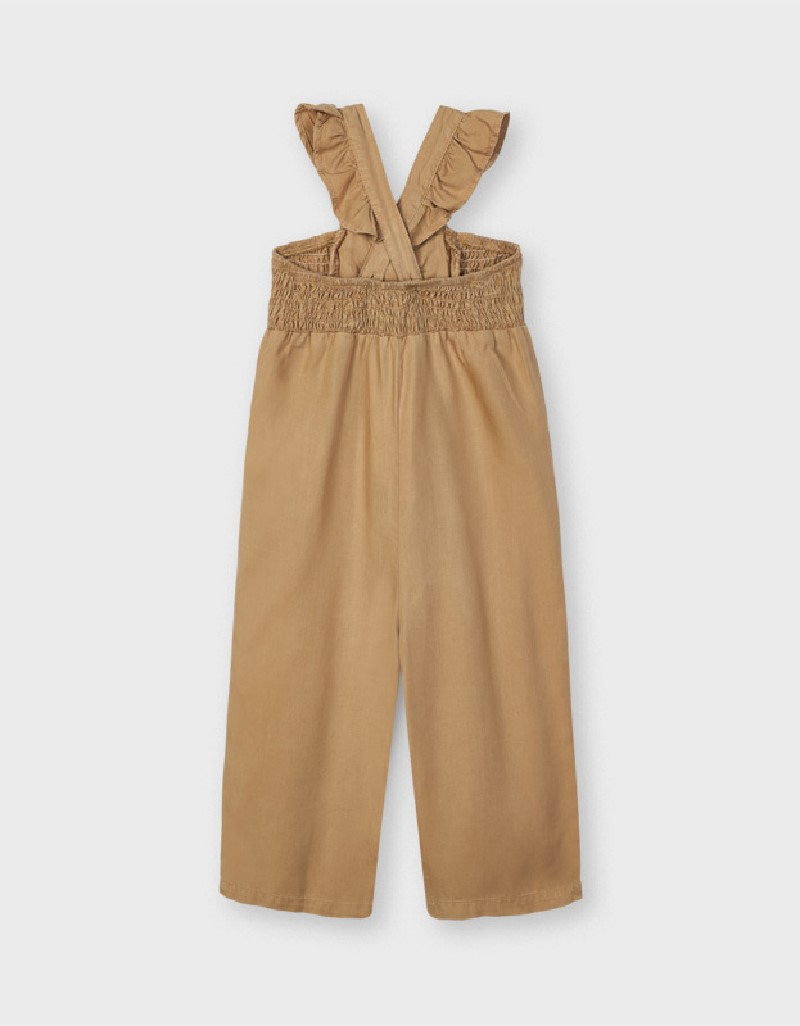 Caramel Ecofriends Flowy Playsuit With Bow