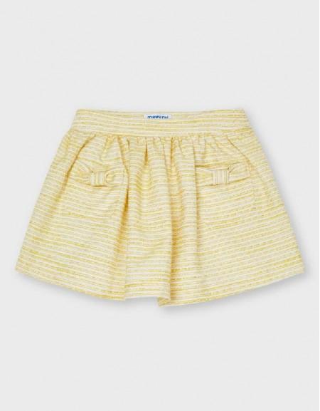 Yellow Tweed Skirt