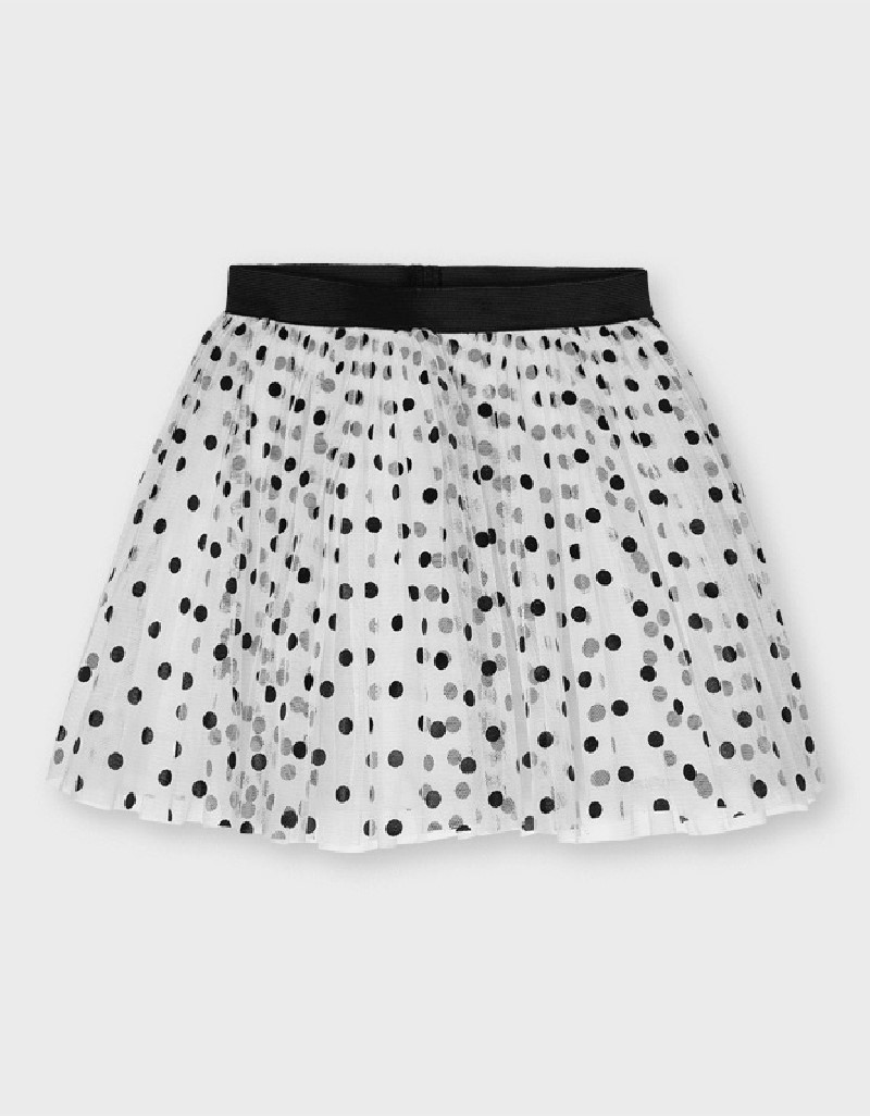 Black Tul Skirt With Dots
