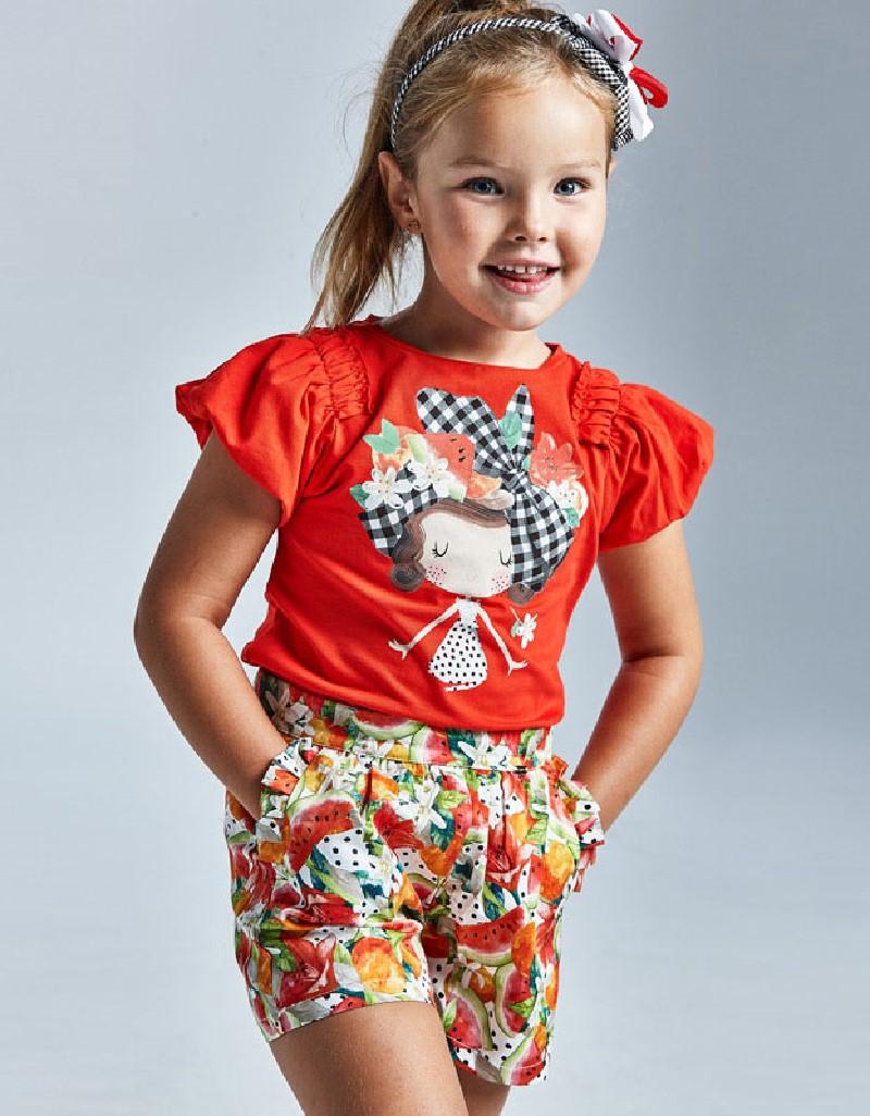 Persimmon Print Skirt