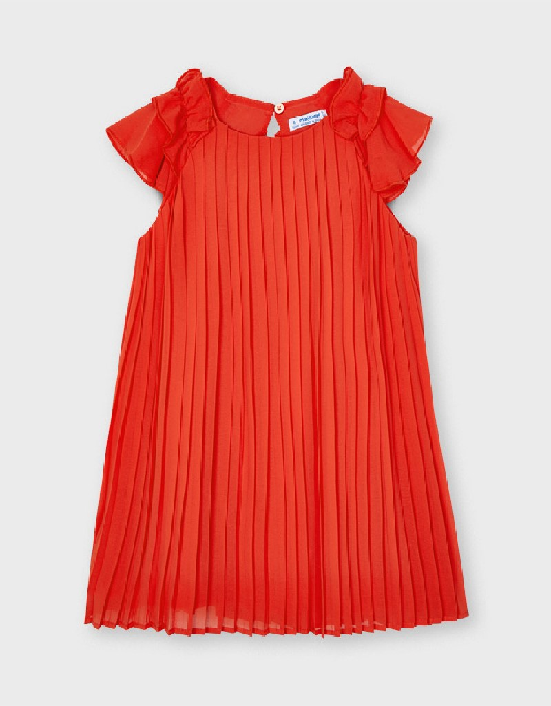 Persimmon Pleated Dress