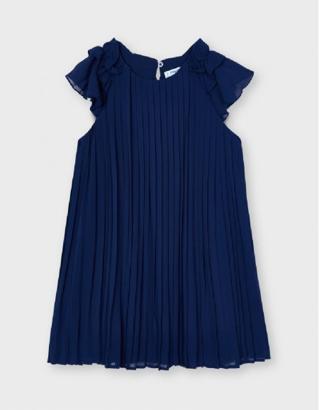 Ink Pleated Dress