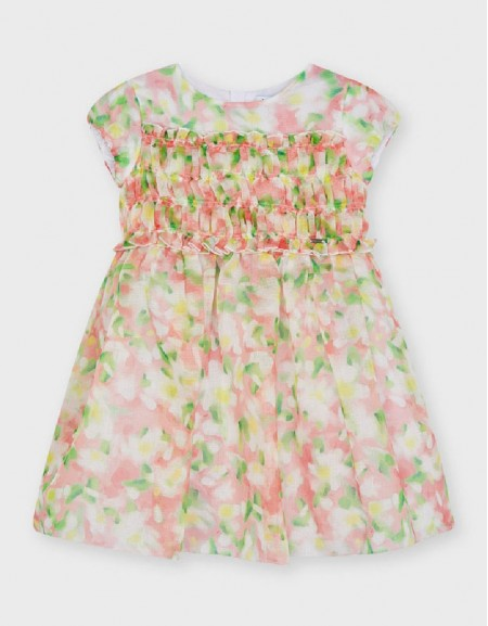 Flamingo Flower Print Dress