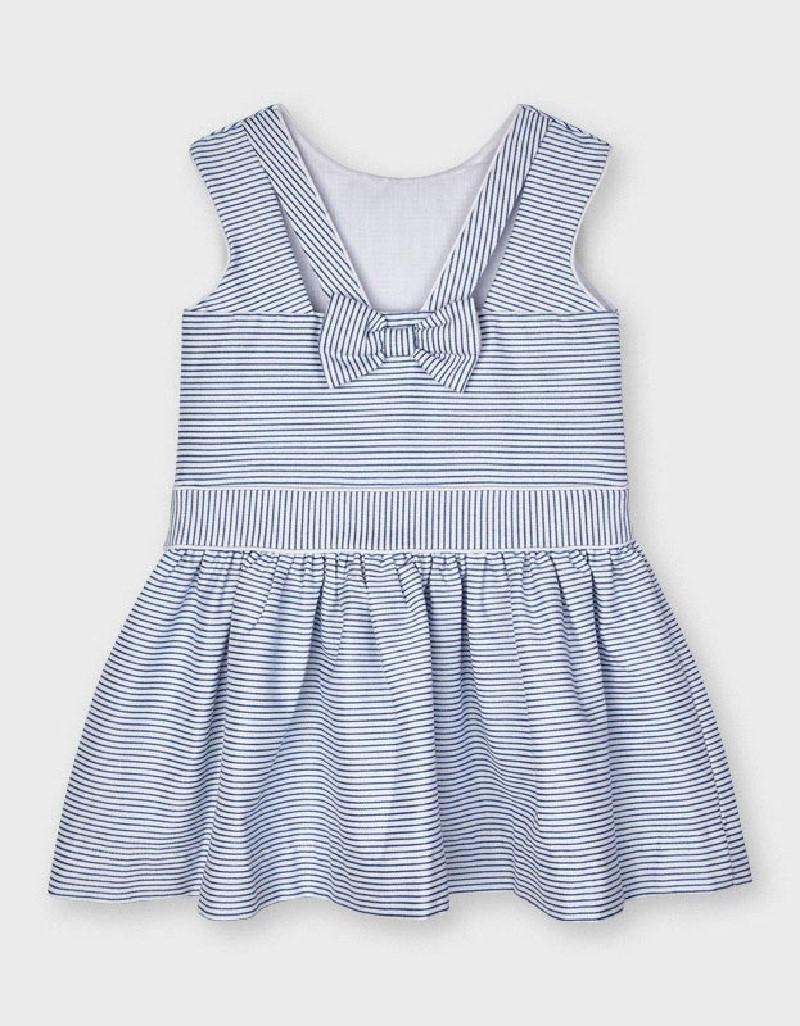 Blue Striped Lurex Dress