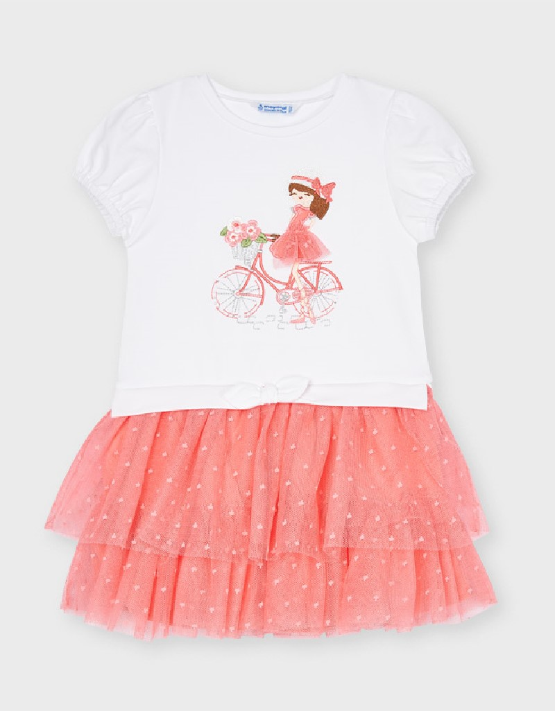 Flamingo Combined Tulle Dress