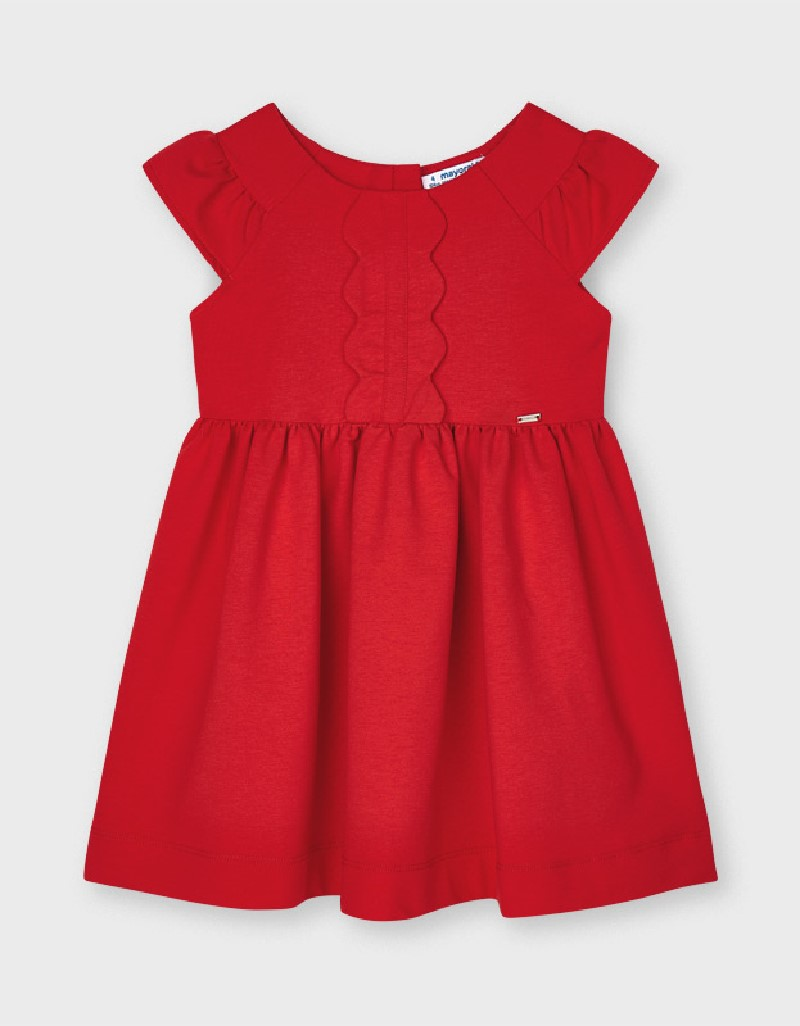 Persimmon Wave Front Dress