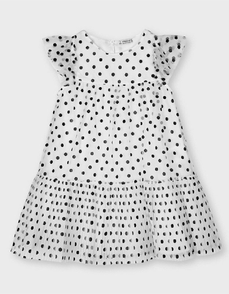 Black Tulle Polka Dots Dress
